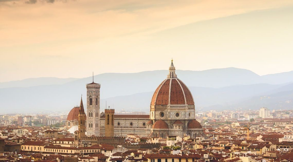 Florence and Pisa from Rome