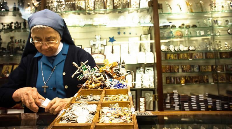 Souvenirs in the Vatican